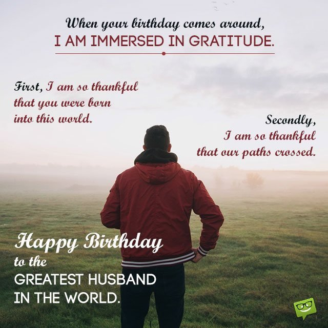 The Greatest Birthday Message For Your Husband