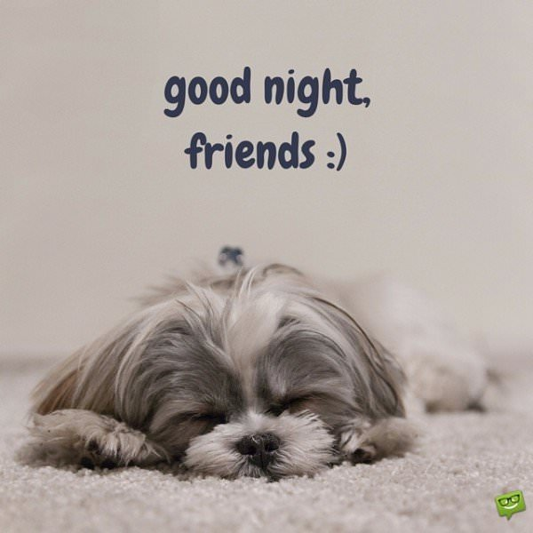 Good night, friends :)
