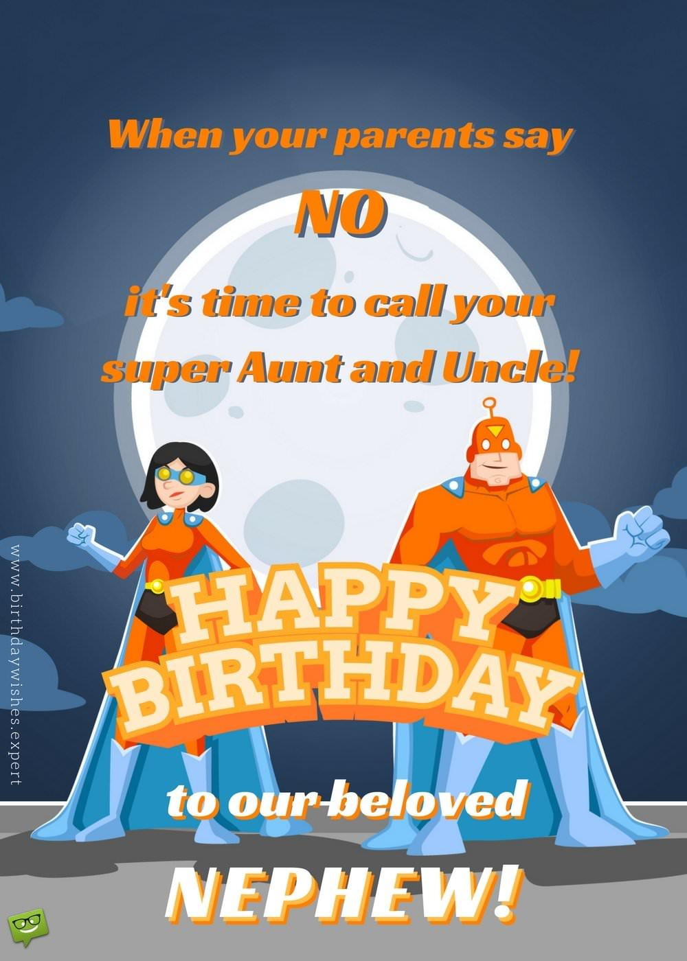 Funny Birthday Wish For Nephew With Super Heroes