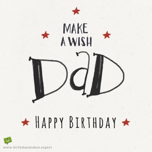 Make a wish, dad! Happy Birthday.