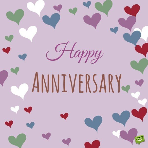Happy Anniversary cute image.