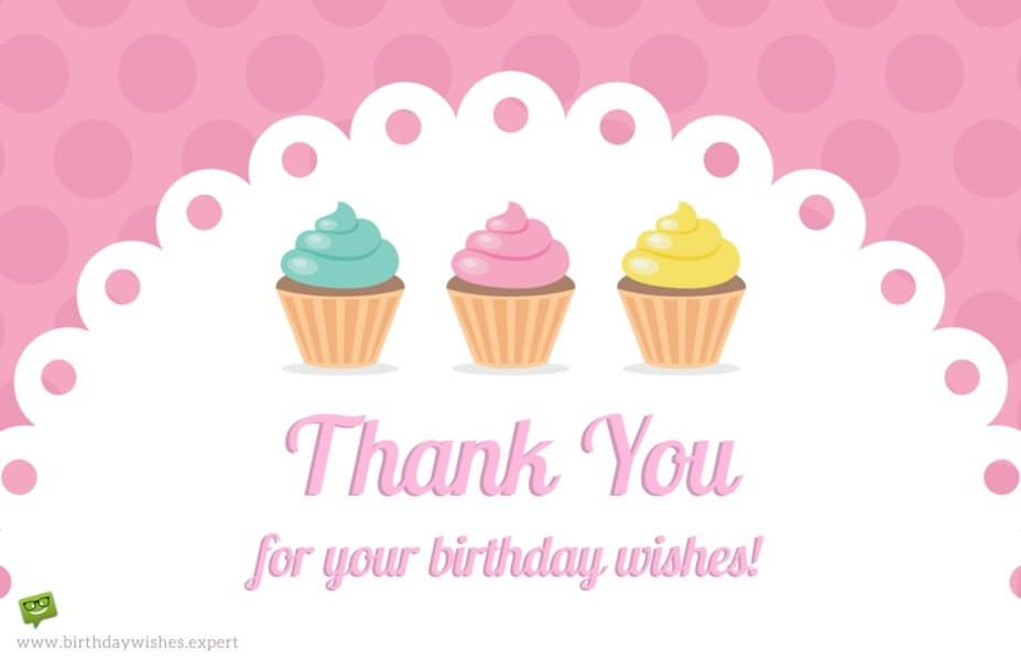 Thank you Notes for your Birthday Presents, Wishes & Presence