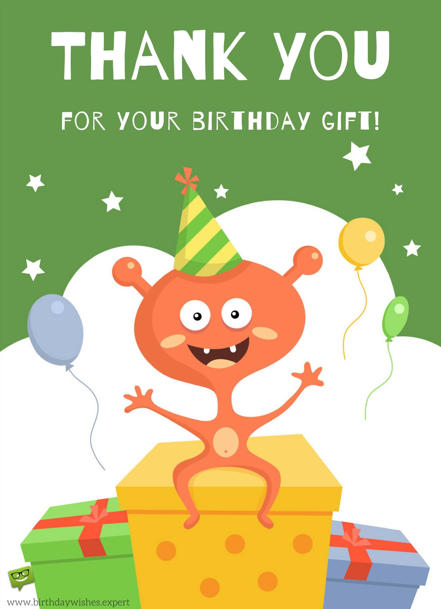 Thank You Notes for Your Birthday – Thank You Cards for Birthday Gift