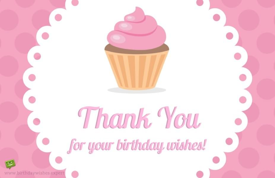 Thank you for your birthday wishes.