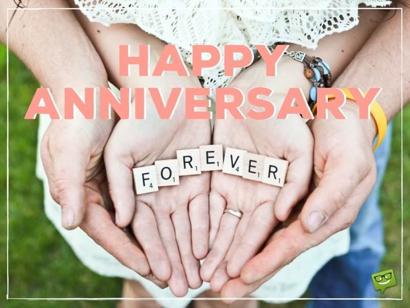 Happy Anniversary to my forever love!