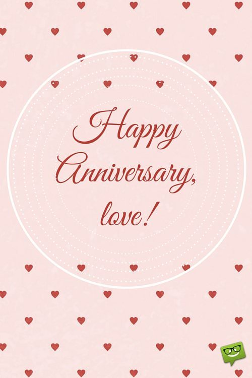 Happy Anniversary, love!