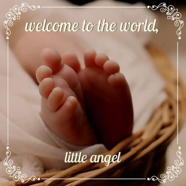 Welcome to the world, little angel.