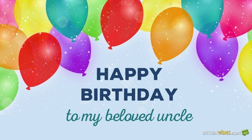 Happy Birthday to my beloved Uncle.