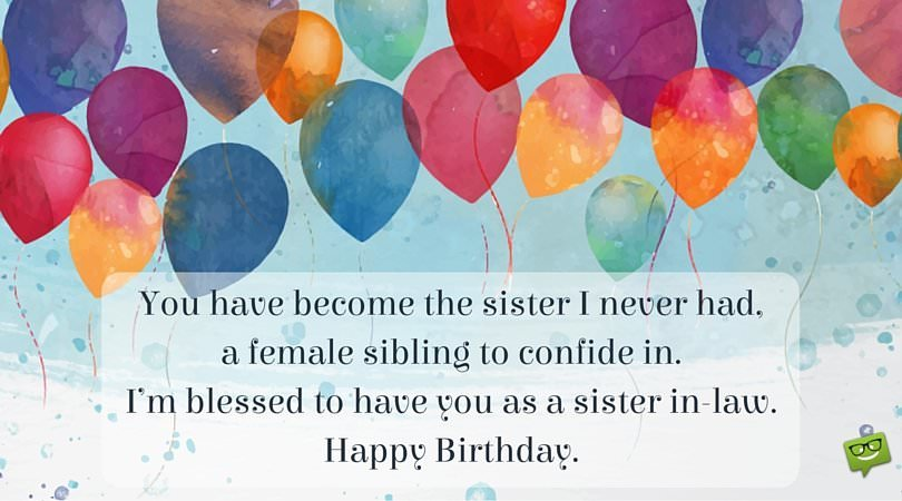 Birthday Wishes for Your Sister-In-law