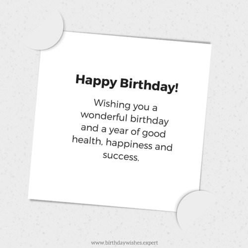 Awesome Following Protocol Formal Birthday Wishes Personalised Birthday Cards Bromeletsinfo