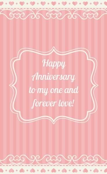 Happy Anniversary to my one and forever love!