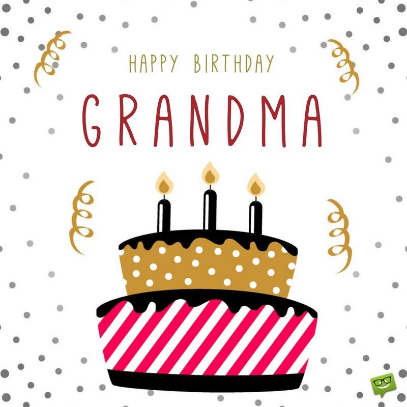 Grandma Card Cake