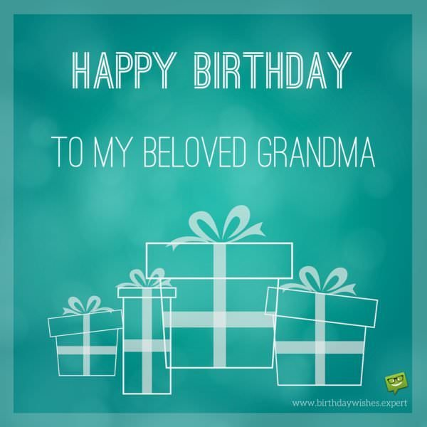 Happy Birthday to my beloved grandma.