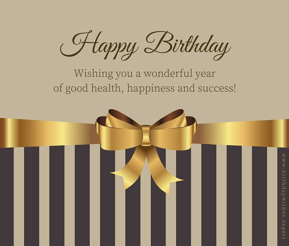 Following protocol formal birthday wishes wishing a wonderful year of good health happiness and success happy birthday kristyandbryce Choice Image