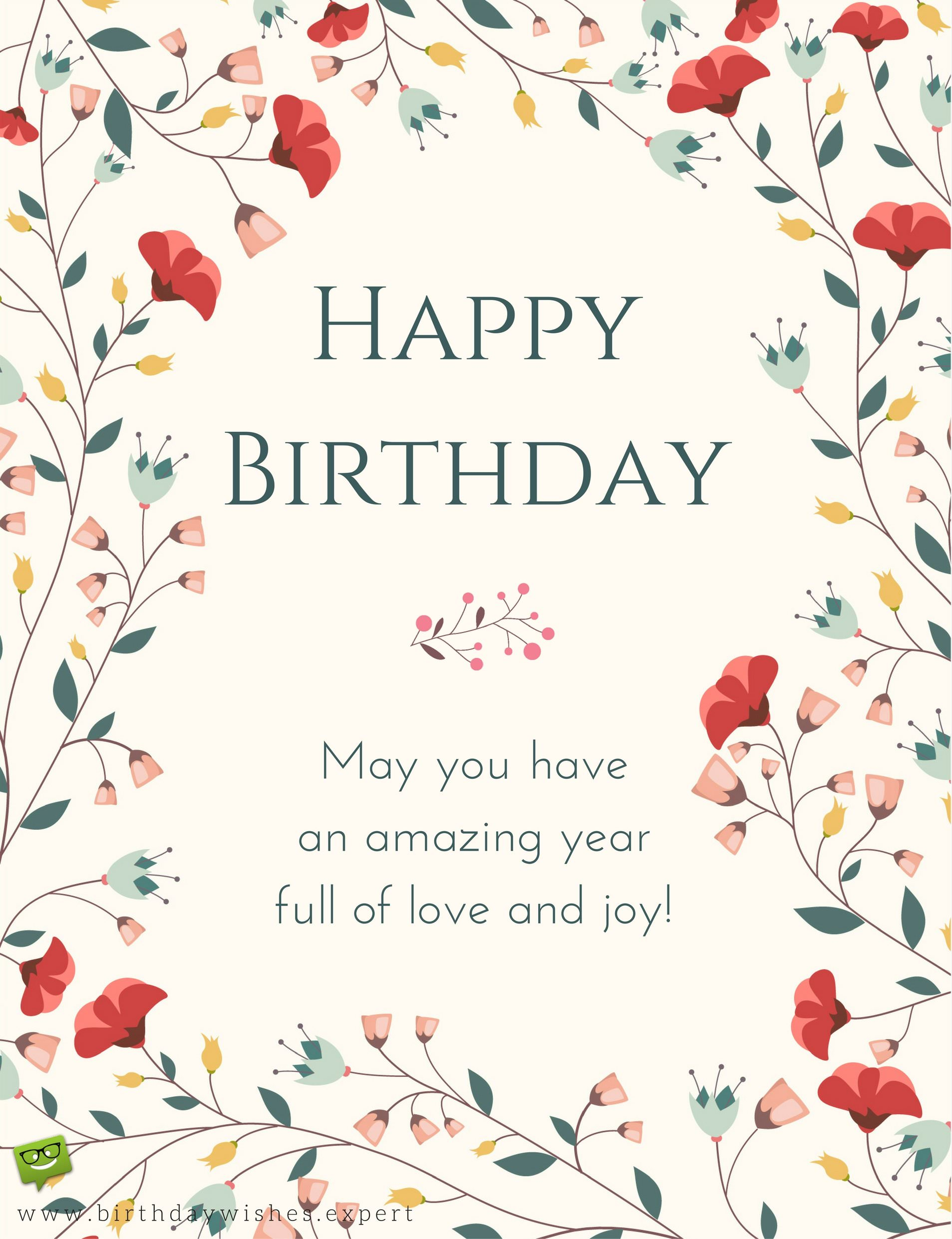 Following protocol formal birthday wishes happy birthday may you have a year full of love and joy kristyandbryce Choice Image