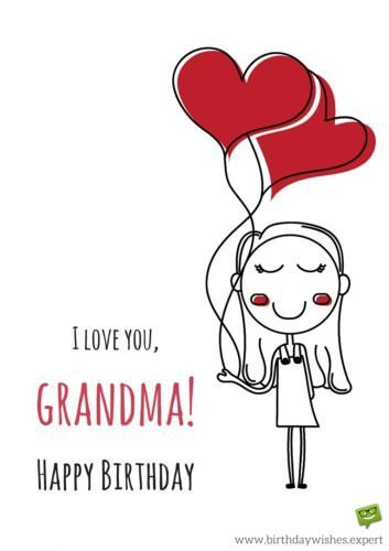 I Love You Grandma Happy Birthday