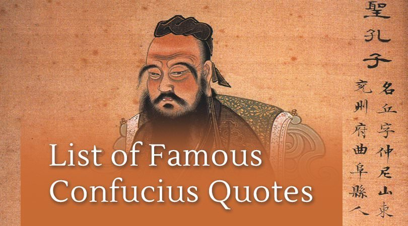 Eastern Wisdom | List of Famous Confucius Quotes