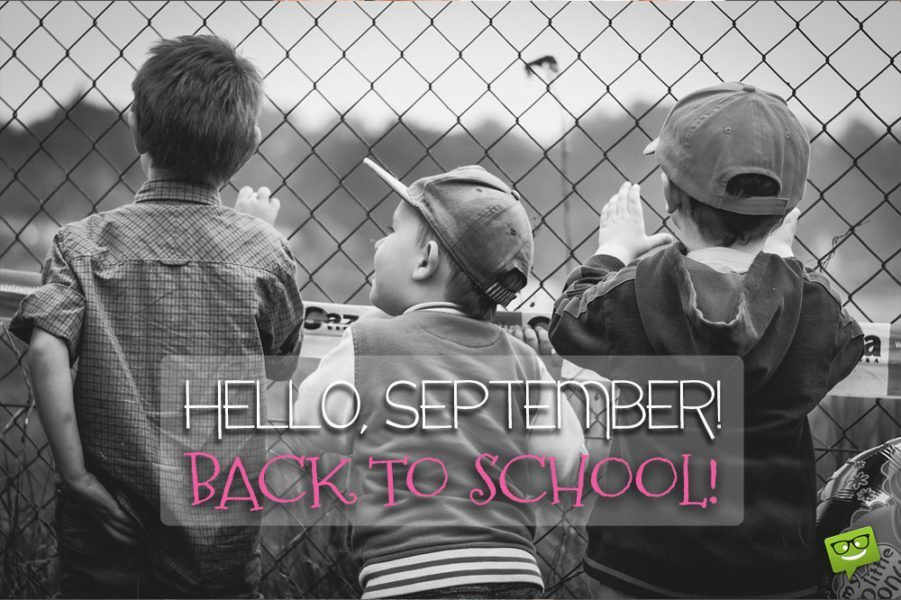 Hello September! Back to school!