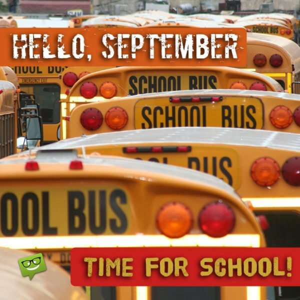 Hello, September! Time for school!