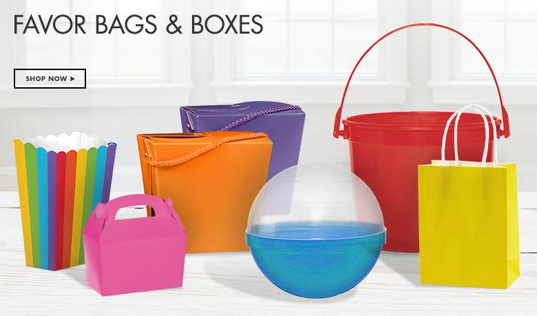 Kids Birthday Favor Bags and Boxes by Party City