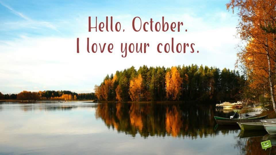 Hello, October. I love your colors.