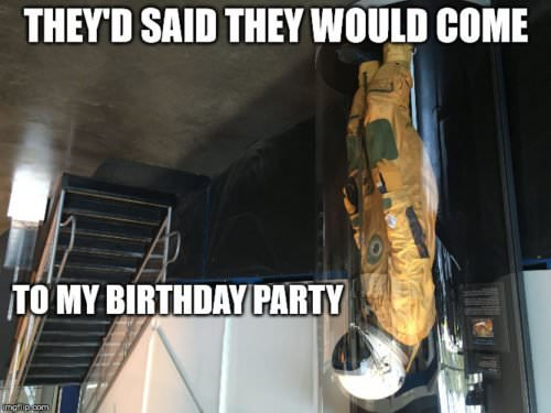 They said they would come to my birthday party.