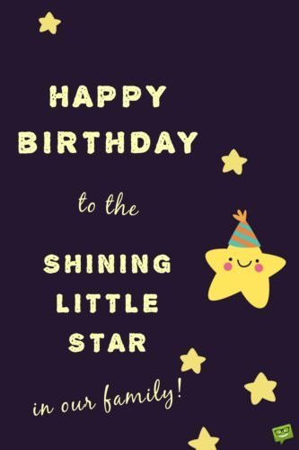 Happy Birthday to the Shining Little Star of our family!