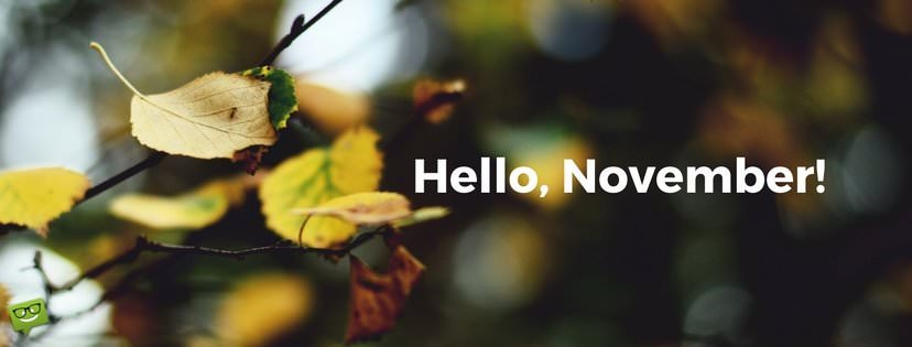 Hello, November! | The Month of Gratitude