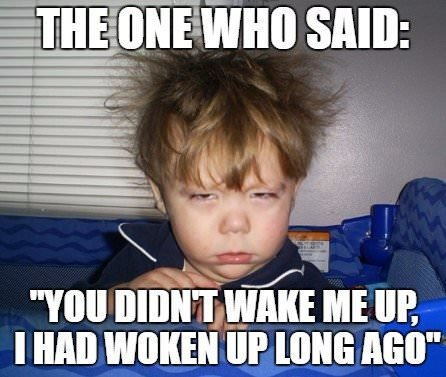 "The one who said: ""You didn't wake me up. I had woken up long ago""."