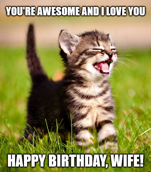 Yep, I'm awesome meme for your wife's birthday.