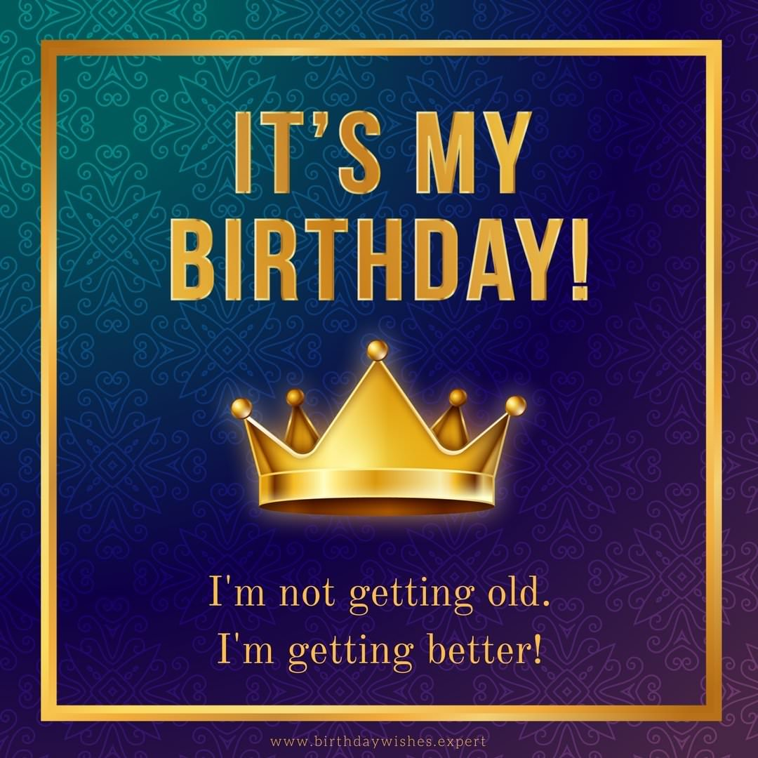 Amazing Its My Birthday My Status Updates For Facebook Personalised Birthday Cards Veneteletsinfo