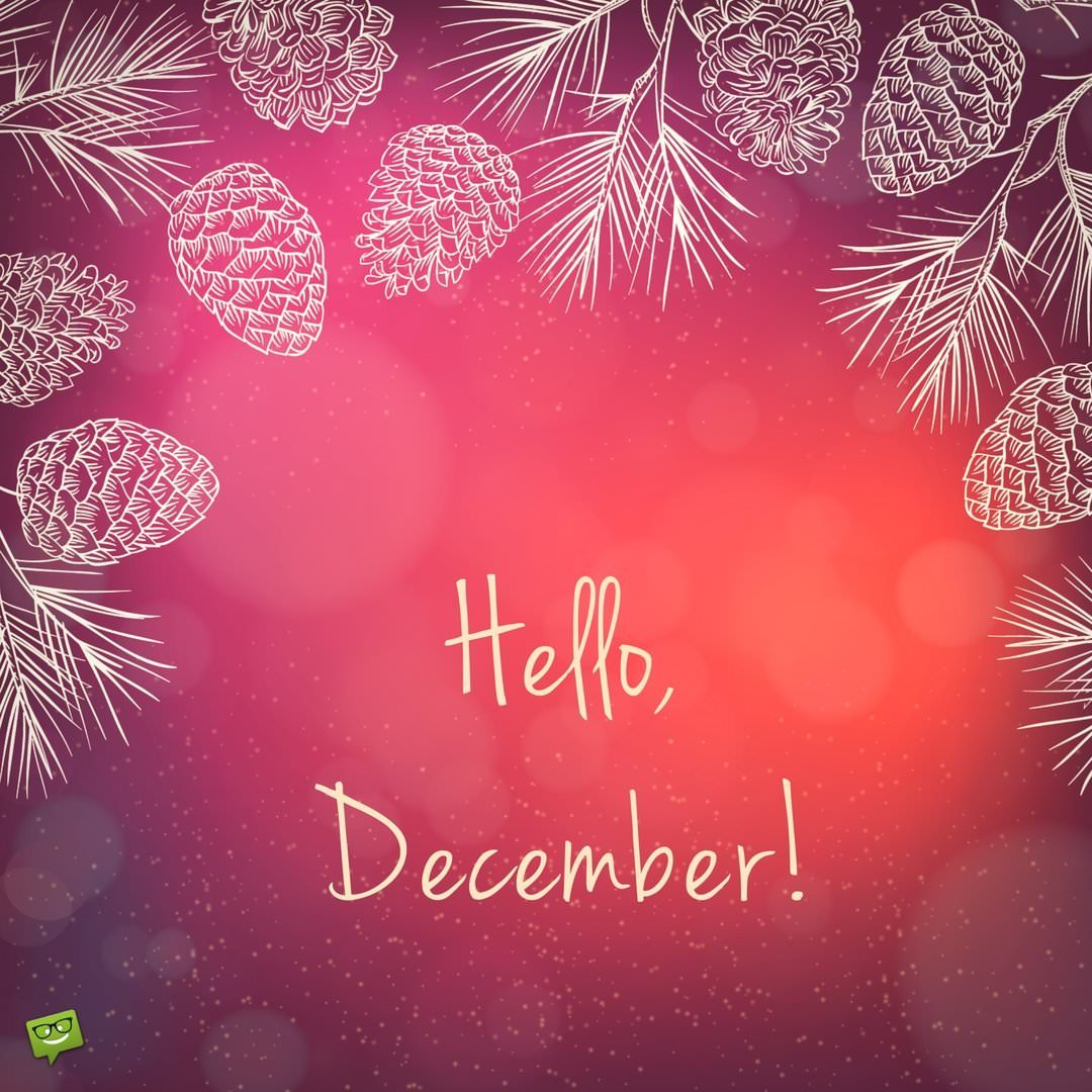 Hello, December!   End the Year and Start Anew
