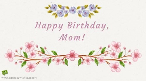 Happy Birthday to the best mother in the world!