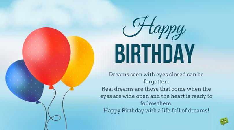 Happy Birthday Inspirational Quotes | Inspirational Birthday Wishes Messages To Motivate And Celebrate