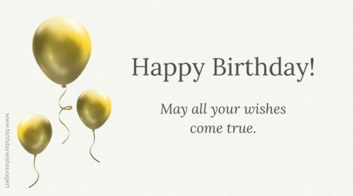 Warm Wishes For Birthday On Card With Formal Style