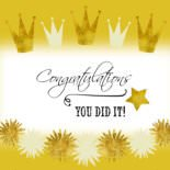 Congratulations. You did it!
