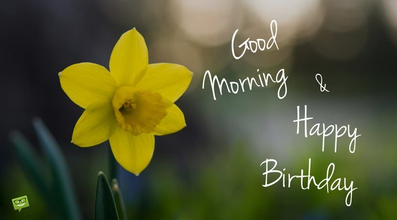Good Morning & Happy Birthday.