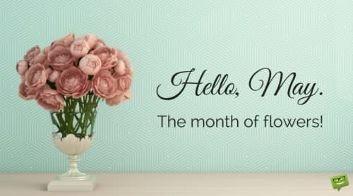 Hello, May. The month of flowers.