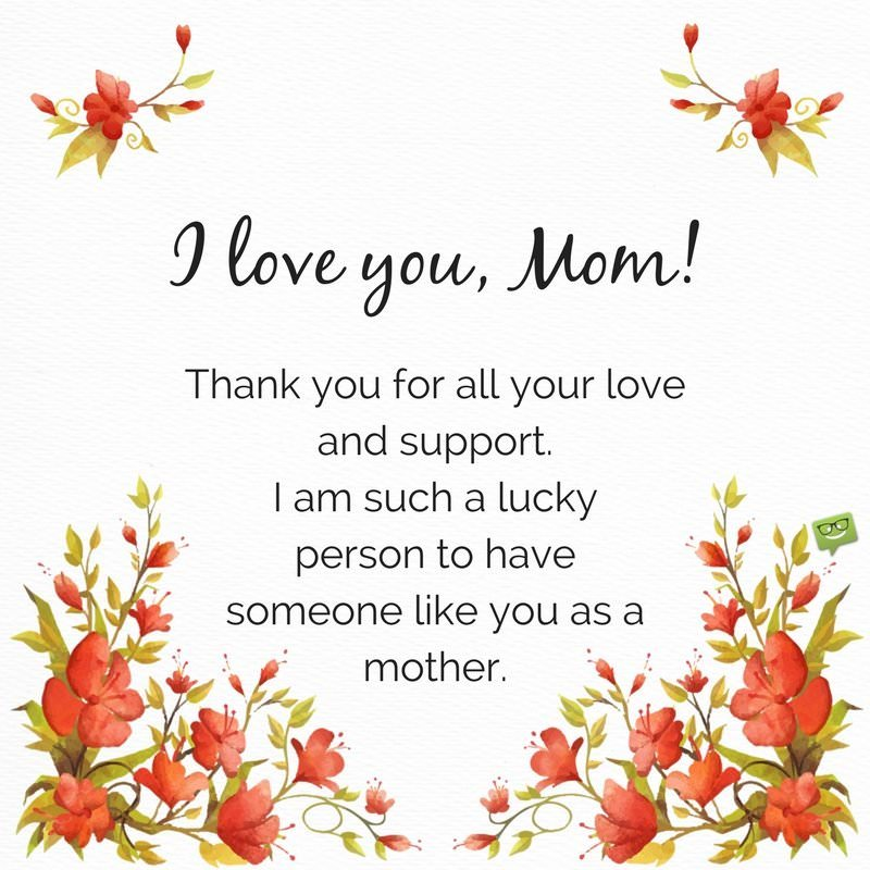 I Love You Mom Quotes Impressive I Love You Messages and Quotes for my Mother and Father