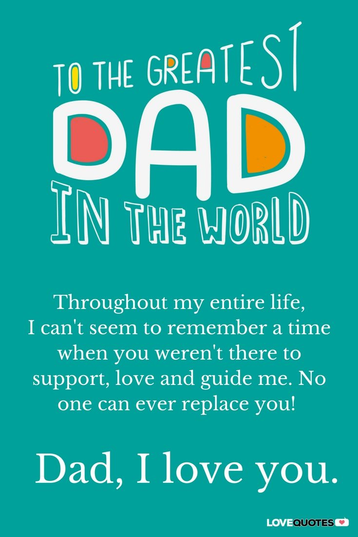 I Love You Dad Quotes I Love You