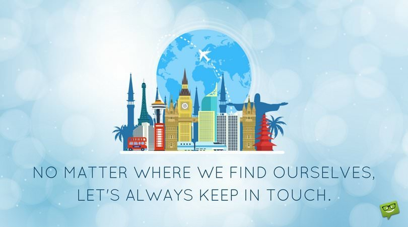"""""""Keep in Touch"""" Quotes 