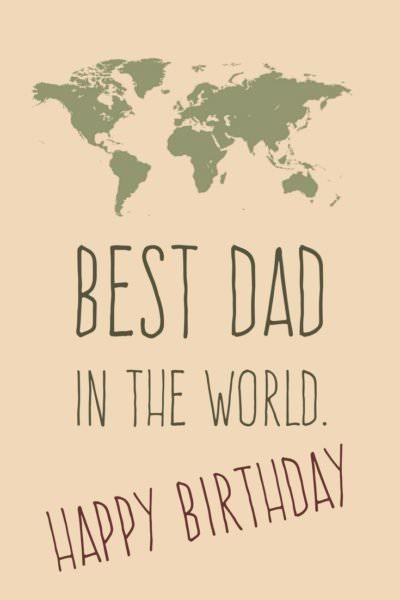 Smart happy birthday picture for dad