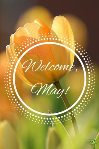 Welcome, May.