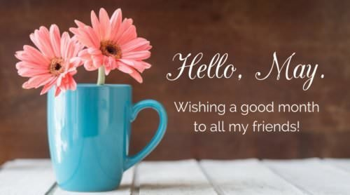 Hello, May. Wishing a good month to all my friends.