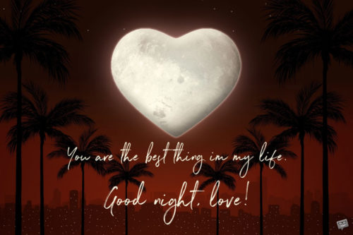 Romantic good night image for the one you love.