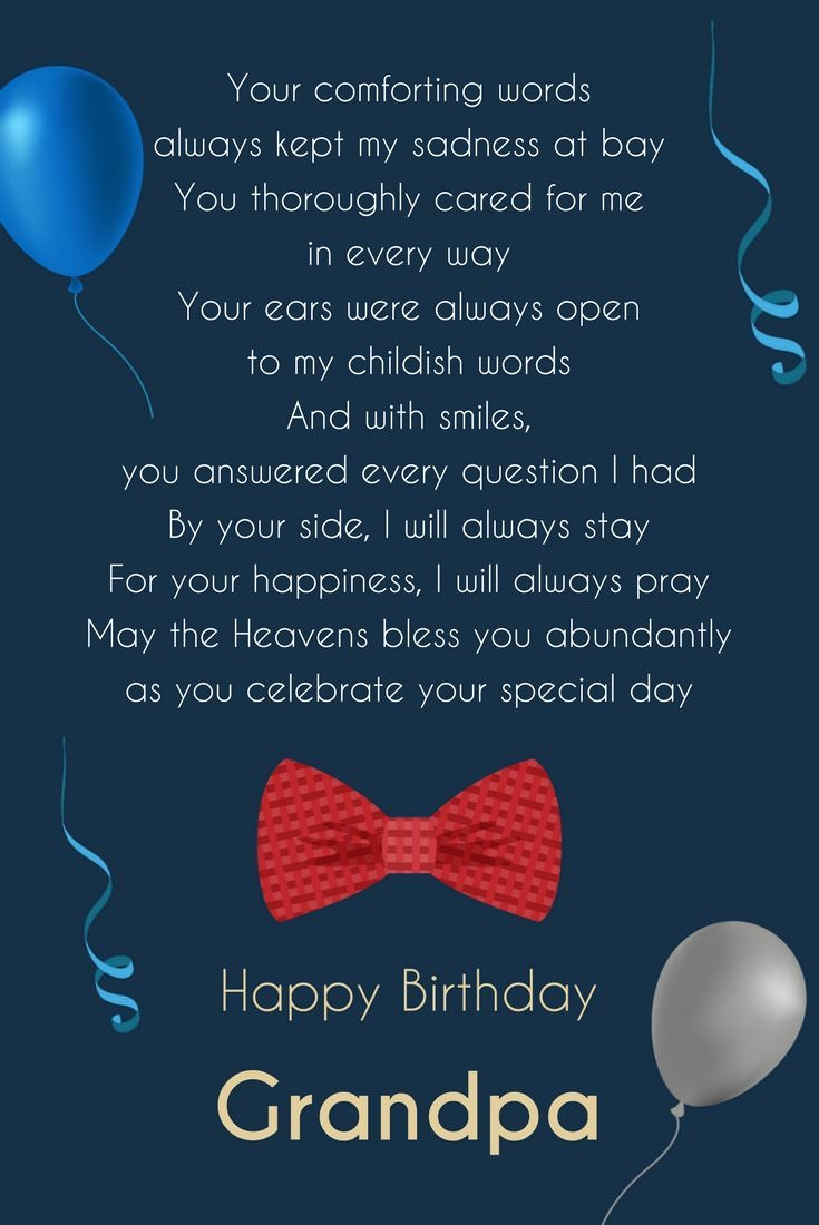 Birthday Poem For Grandpa
