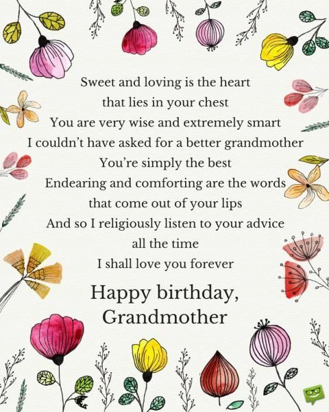 Birthday Poem for Grandmother.