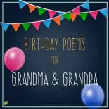 Birthday poems for Grandma & Grandpa.