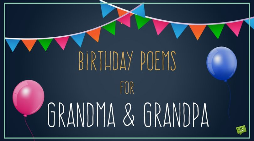 Greetings to my Grandparents | Birthday Poems for Grandma and Grandpa