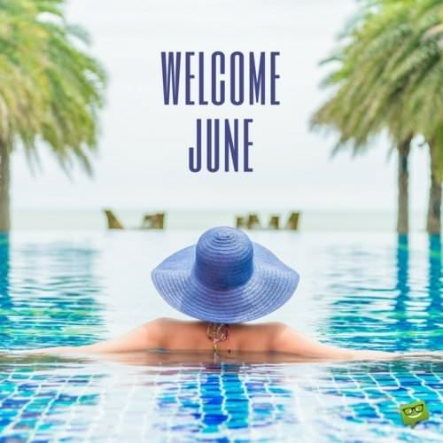 Welcome, June.